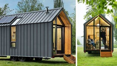 """Photo of A Company Presents Its """"House-cabin"""" On Wheels. It Is Small But Nothing Is Missing Inside"""