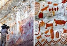 """Photo of Discoveries In The Amazon Of Thousands Of Paintings Dating Back To 12,500 Years. It Is The Rock-cut """"Sistine Chapel"""""""