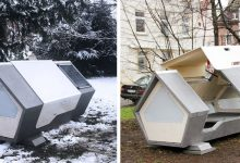 Photo of Futuristic Capsules Installed In A German City To Give Shelter To The Homeless