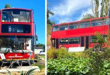 Photo of Couple Transform Old London Bus Into Luxurious And Super Comfortable Home