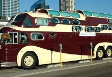 """Photo of This Huge Motorhome Is An Original """"Fusion"""" Between Two Buses, For Comfortable Journeys Full Of Adventure"""