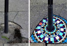 Photo of An Artist From Lyon Repairs Sidewalks With Beautiful Mosaics: His Works Make Us Smile.