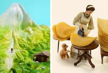 Photo of This Japanese Artist Creates Spectacular Dioramas With Everyday Objects: They Are True Miniature Worlds.