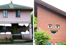 Photo of 16 Human-looking Houses That Seem To Be Looking At Us With The Strangest Expressions.