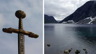 Photo of A Giant 16th-century Sword Emerges From The Waters Of A Norwegian Lake.
