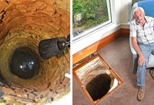 Photo of He Renovates His Living Room And Discovers A 500-year-old Well With A Medieval Sword.