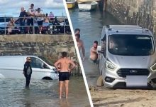 Photo of He Parks His Van On The Beach, In A No-parking Zone, And Finds It Submerged In Water.