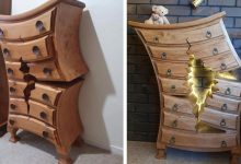 Photo of Retired Carpenter Builds 'damaged' Furniture That Looks Like It Came Out Of A Disney Movie.